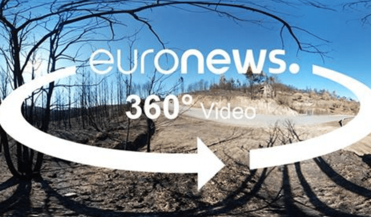 Partnership Project: 360° video on the wildfires in Portugal